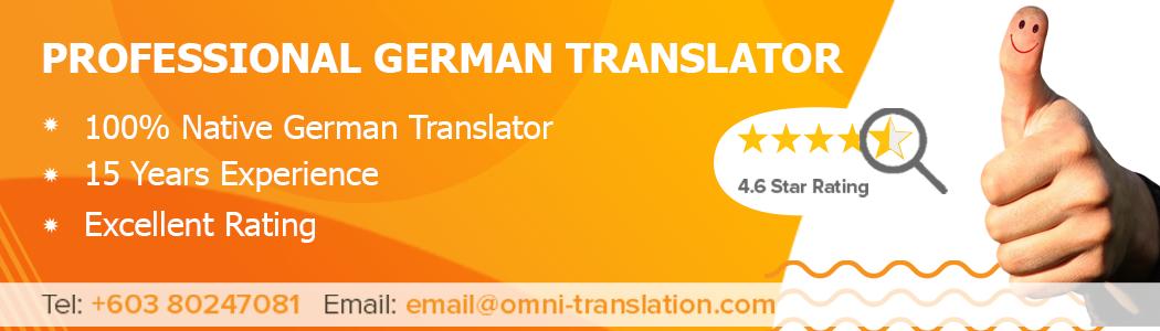 Translate German Malaysia