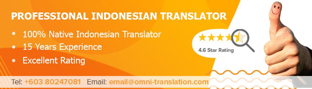 Translate Indonesian Malaysia