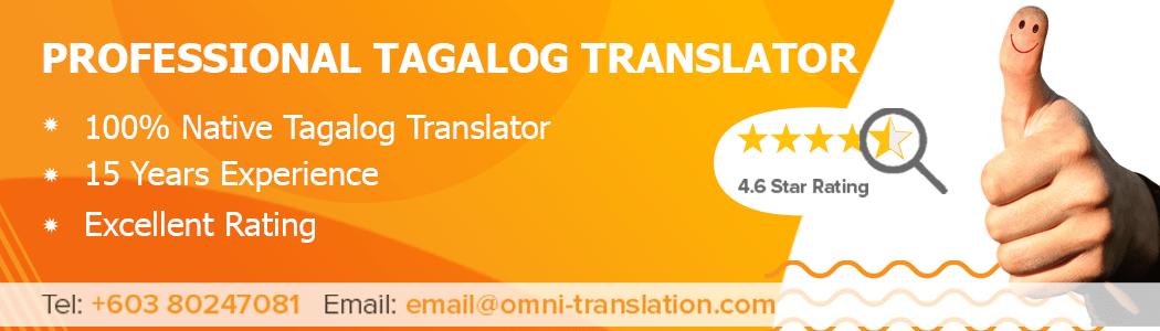 Translate Tagalog Malaysia